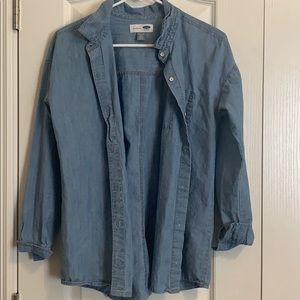Juniors Boyfriend style jean shirt, size XXL (16)